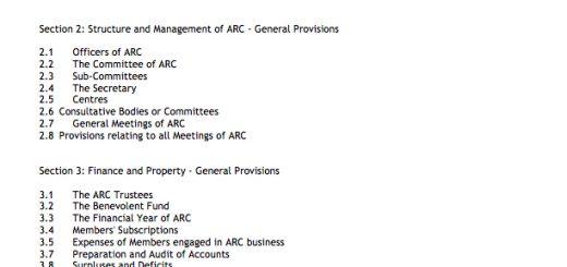 ARC Rules 2016